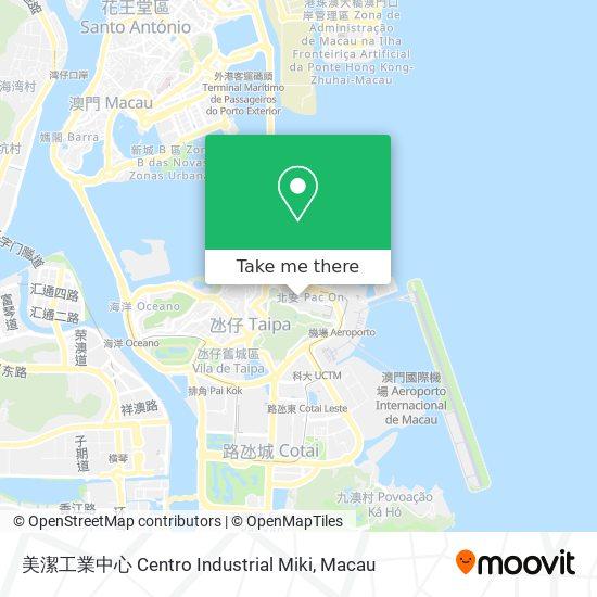 美潔工業中心 Centro Industrial Miki map