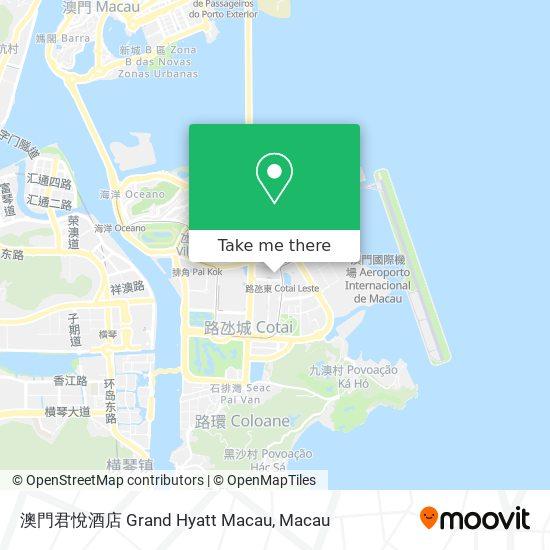 澳門君悅酒店 Grand Hyatt Macau map
