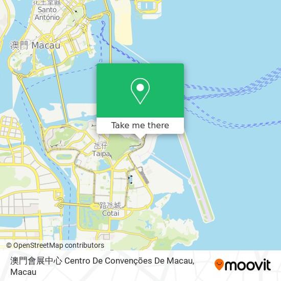 澳門會展中心 Centro De Convenções De Macau map