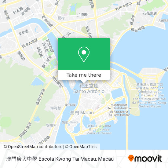 澳門廣大中學 Escola Kwong Tai Macau map