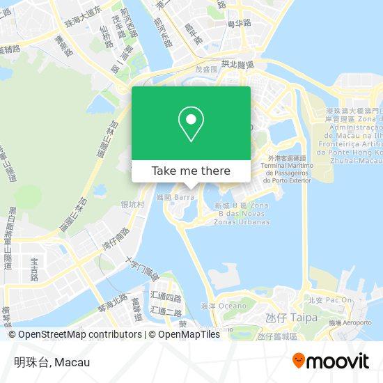 明珠台 map