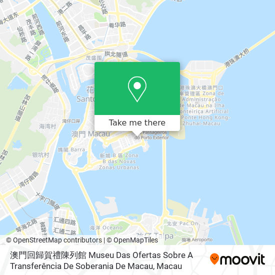 澳門回歸賀禮陳列館 Museu Das Ofertas Sobre A Transferência De Soberania De Macau map