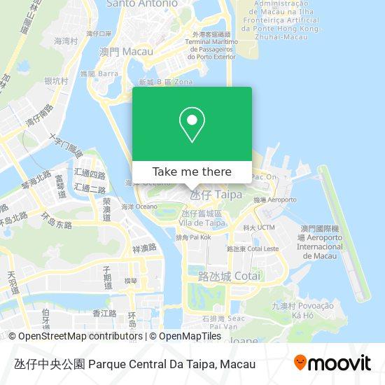氹仔中央公園 Parque Central Da Taipa map