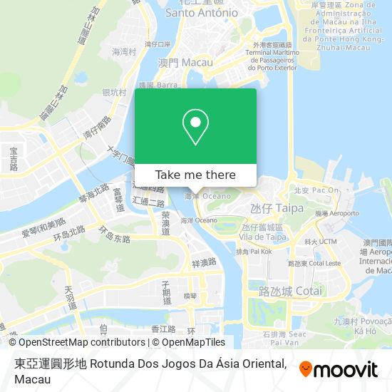 東亞運圓形地 Rotunda Dos Jogos Da Ásia Oriental map