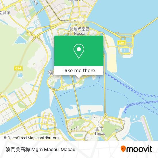 澳門美高梅 Mgm Macau map