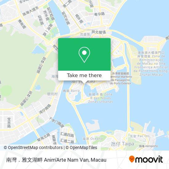 南灣.雅文湖畔 Anim'Arte Nam Van map