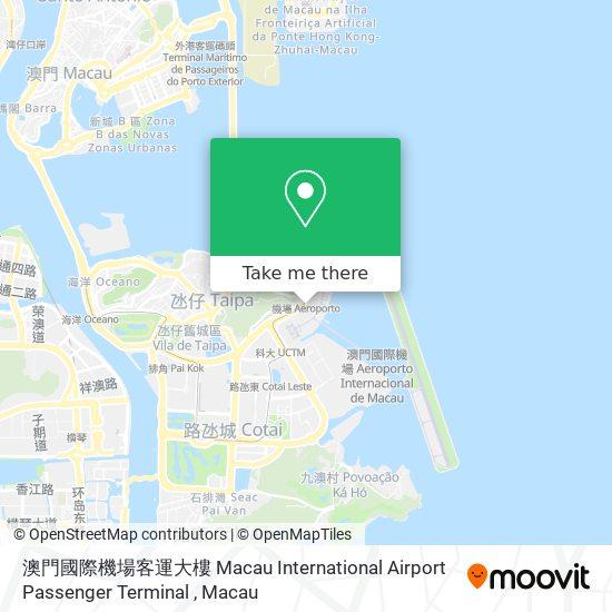 澳門國際機場客運大樓 Macau International Airport Passenger Terminal map