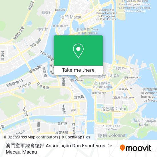 澳門童軍總會總部 Associação Dos Escoteiros De Macau map