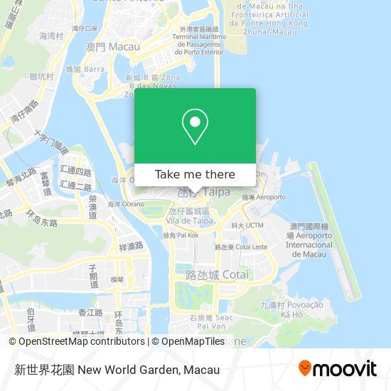 新世界花園 New World Garden map