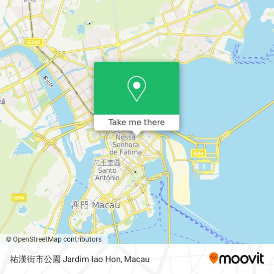 祐漢街市公園 Jardim Iao Hon map