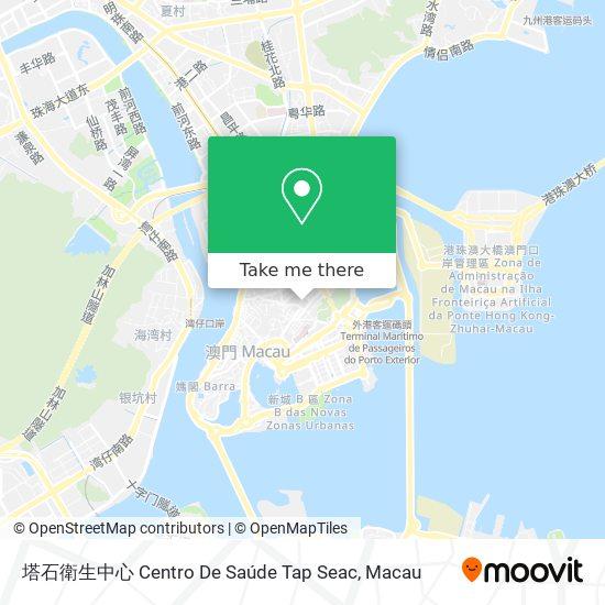 塔石衛生中心 Centro De Saúde Tap Seac map