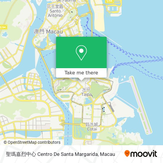 聖瑪嘉烈中心 Centro De Santa Margarida map