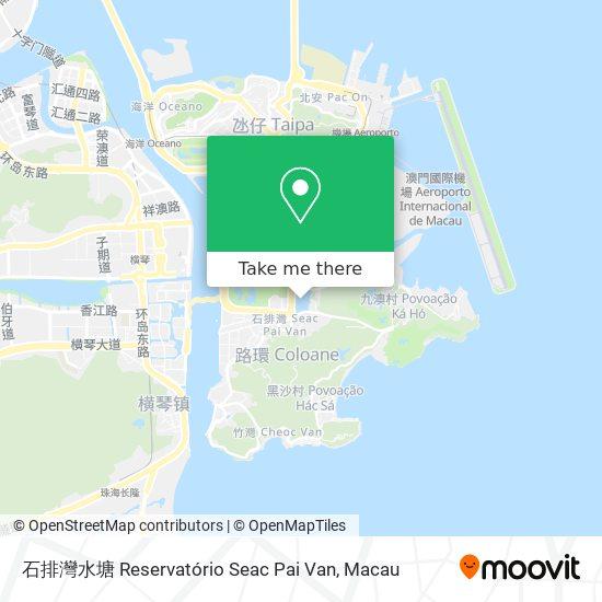 石排灣水塘 Reservatório Seac Pai Van map
