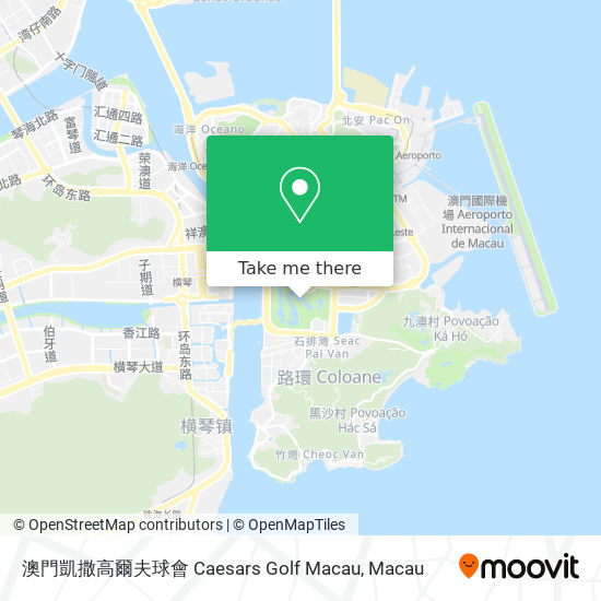 澳門凱撒高爾夫球會 Caesars Golf Macau map