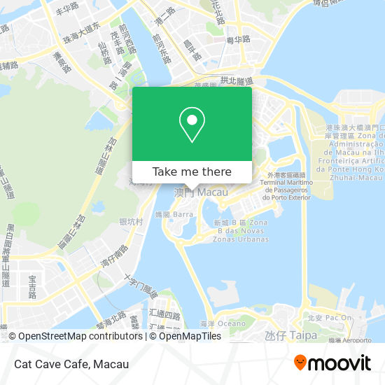 Cat Cave Cafe map