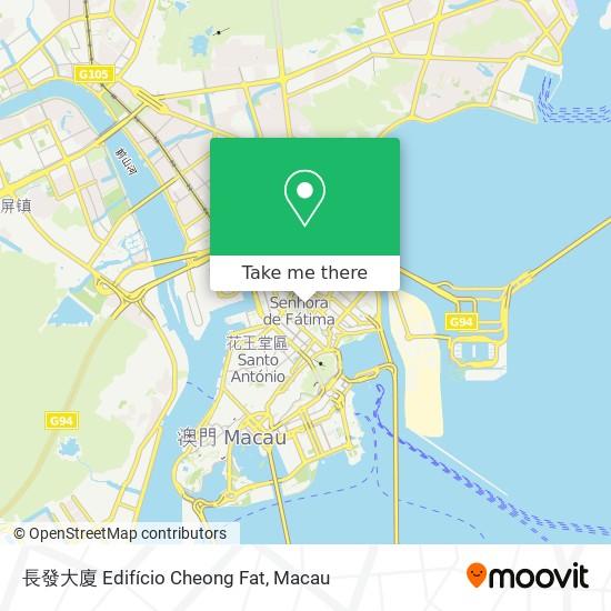 長發大廈 Edifício Cheong Fat map