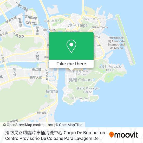 消防局路環臨時車輛清洗中心 Corpo De Bombeiros Centro Provisório De Coloane Para Lavagem De Viaturas De Bombeiros map