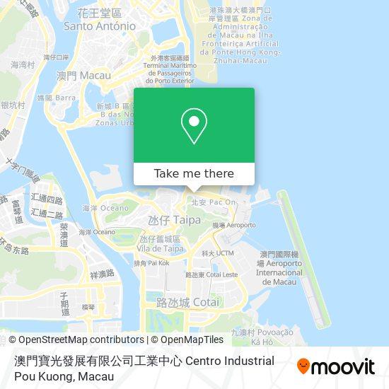 澳門寶光發展有限公司工業中心 Centro Industrial Pou Kuong map