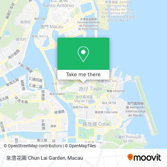泉澧花園 Chun Lai Garden map