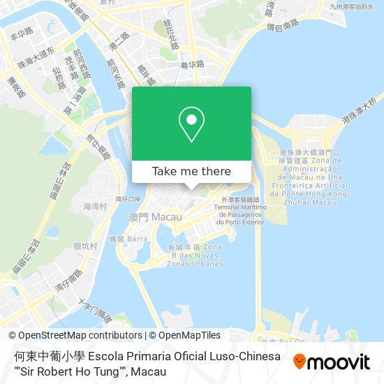 """何東中葡小學 Escola Primaria Oficial Luso-Chinesa """"""""Sir Robert Ho Tung"""""""" map"""