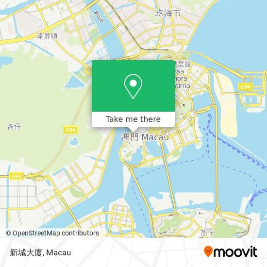 新城大廈 map