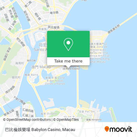 巴比倫娛樂場 Babylon Casino map