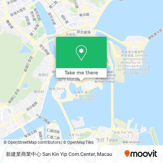 新建業商業中心 San Kin Yip Com.Center map