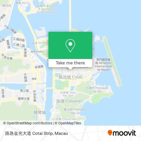 路氹金光大道 Cotai Strip map