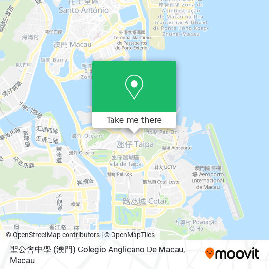聖公會中學 (澳門) Colégio Anglicano De Macau map