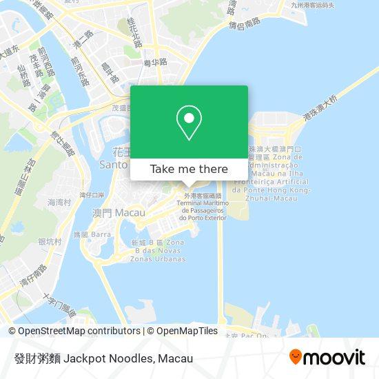發財粥麵 Jackpot Noodles map