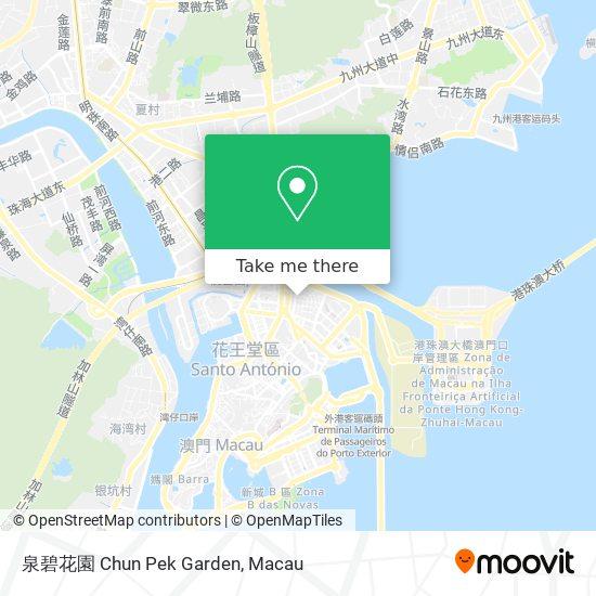泉碧花園 Chun Pek Garden map