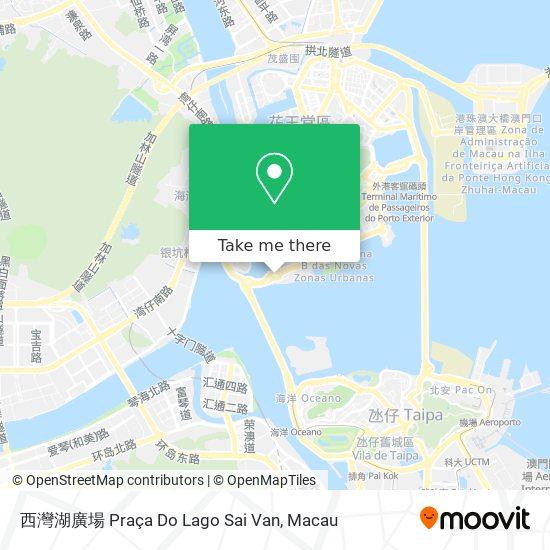 西灣湖廣場 Praça Do Lago Sai Van map