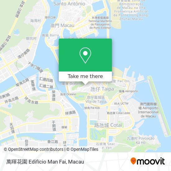 萬暉花園 Edifício Man Fai map
