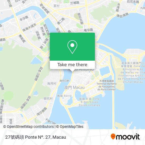 27號碼頭 Ponte Nº. 27 map