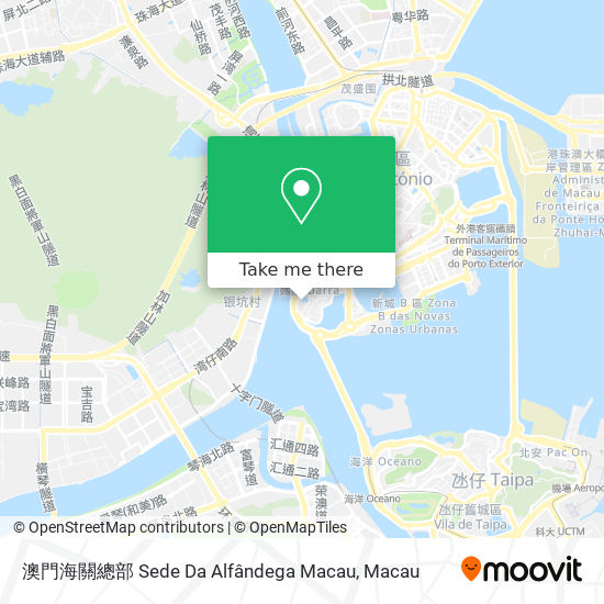 澳門海關總部 Sede Da Alfândega Macau map