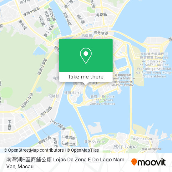 南灣湖E區商舖公廁 Lojas Da Zona E Do Lago Nam Van map