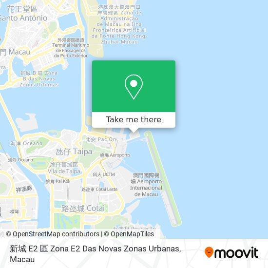 新城 E2 區 Zona E2 map
