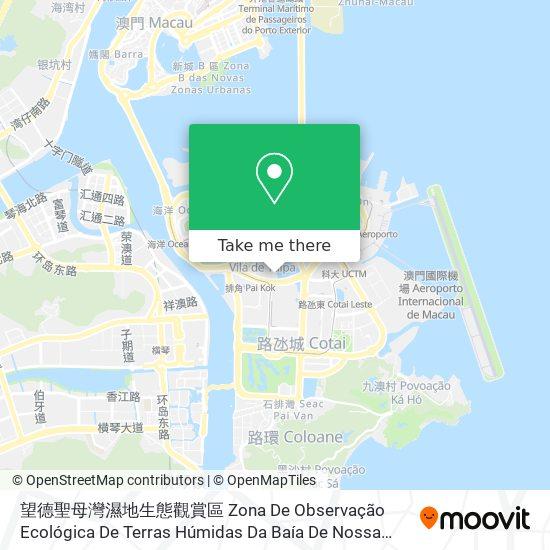 望德聖母灣濕地生態觀賞區 Zona De Observação Ecológica De Terras Húmidas Da Baía De Nossa Senhora Da Esperança map