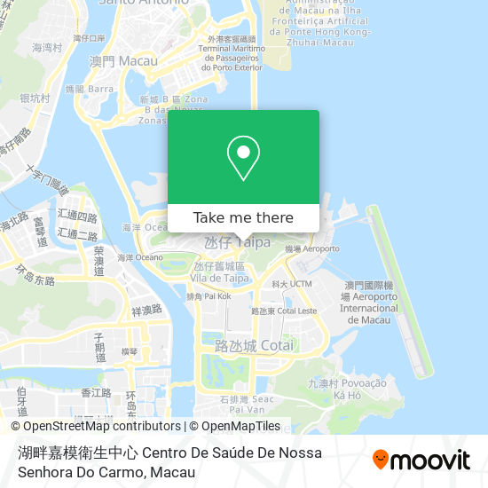 湖畔嘉模衛生中心 Centro De Saúde De Nossa Senhora Do Carmo map