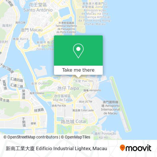 新南工業大廈 Edifício Industrial Lightex map