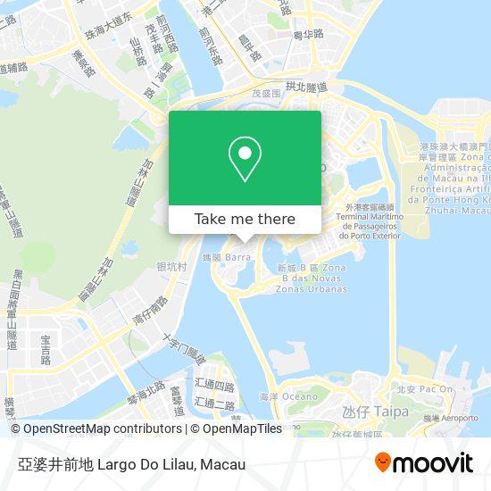 亞婆井前地 Largo Do Lilau map