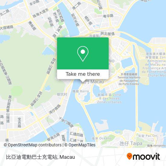 比亞迪電動巴士充電站 map