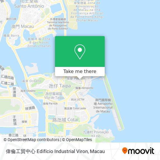 偉倫工貿中心 Edifício Industrial Viron map