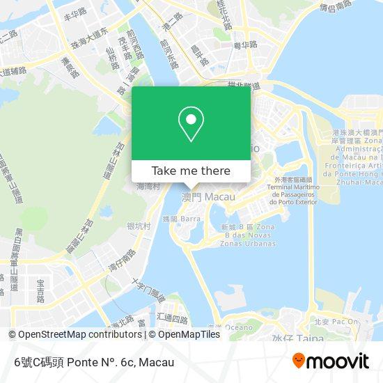 6號C碼頭 Ponte Nº. 6c map