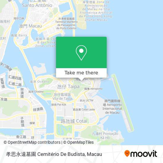 孝思永遠墓園 Cemitério De Budista map