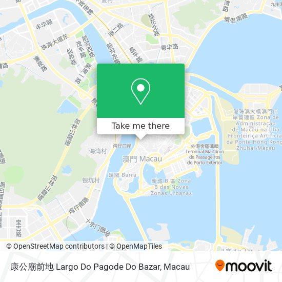 康公廟前地 Largo Do Pagode Do Bazar map