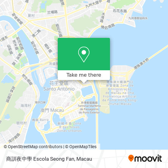 商訓夜中學 Escola Seong Fan map