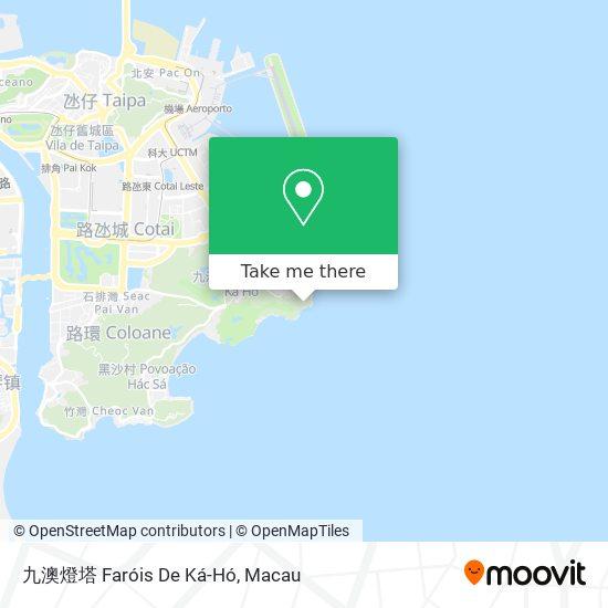 九澳燈塔 Faróis De Ká-Hó map