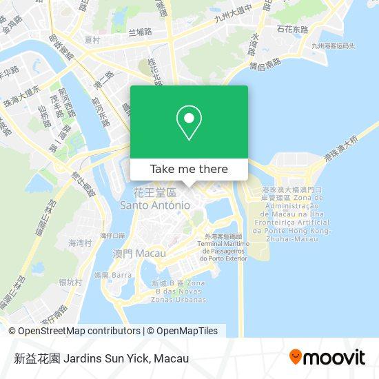 新益花園 Jardins Sun Yick map
