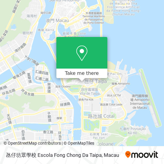 氹仔坊眾學校 Escola Fong Chong Da Taipa map